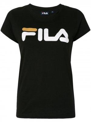Футболка с логотипом Fila. Цвет: черный