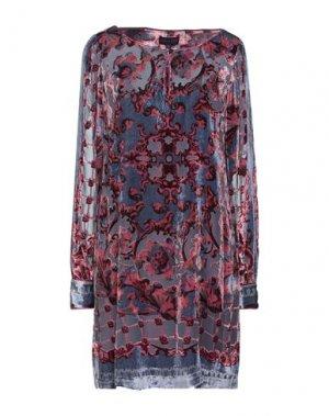Короткое платье HALE BOB. Цвет: грифельно-синий
