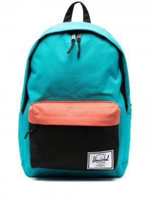 Рюкзак в стиле колор-блок с нашивкой-логотипом Herschel Supply Co.. Цвет: синий