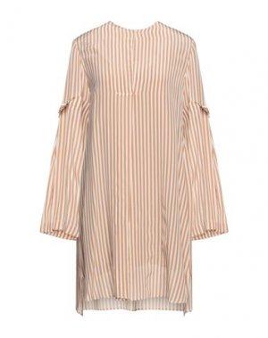 Короткое платье ALYSI. Цвет: песочный