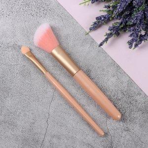 Набор кистей для макияжа, 2 предмета, цвет розовый Queen fair