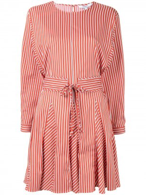 Striped shirt dress Derek Lam 10 Crosby. Цвет: оранжевый