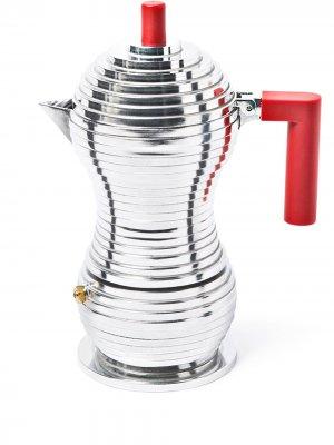 Кофеварка Pulcina Alessi. Цвет: серебристый