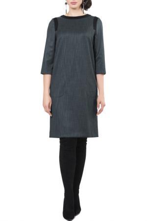 Платье Argent. Цвет: зеленый меланж