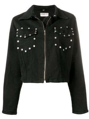 Джинсовая куртка с кнопками на кармане Fiorucci. Цвет: черный