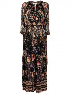 Платье Blushing Manor со сборками Camilla. Цвет: черный