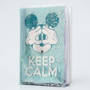 Ежедневник а5 с обложкой шейкер keep calm, микки маус, 96 листов Disney