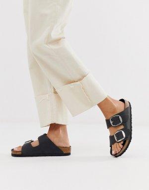 Кожаные сандалии с большими пряжками Birkenstock