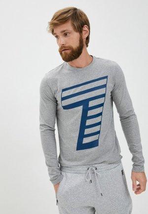 Лонгслив EA7. Цвет: серый