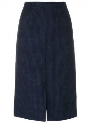 Классическая юбка-карандаш Guy Laroche Pre-Owned. Цвет: синий