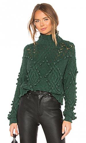 Пуловер daybreak Lovers + Friends. Цвет: зеленый
