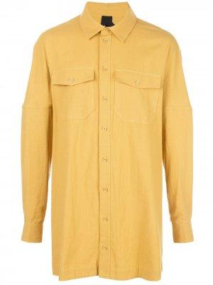 Длинная рубашка Masa Bernhard Willhelm. Цвет: желтый