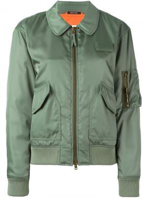 Классическая куртка-бомбер Maison Margiela. Цвет: зелёный