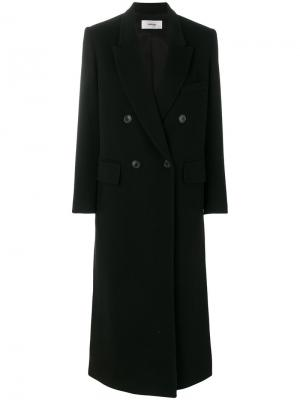 Пальто мешковатого кроя Mauro Grifoni. Цвет: чёрный