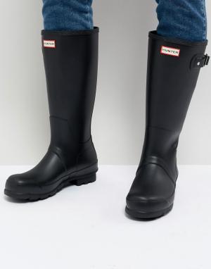 Черные высокие резиновые сапоги Original-Черный Hunter