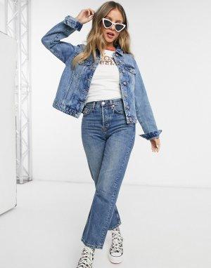Синяя джинсовая куртка -Синий Pieces