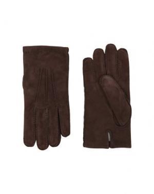 Перчатки ELEVENTY. Цвет: темно-коричневый