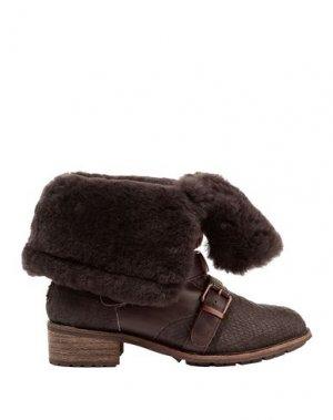 Полусапоги и высокие ботинки AUSTRALIA LUXE COLLECTIVE. Цвет: темно-коричневый