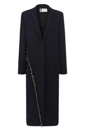 Пальто прямого кроя Lanvin. Цвет: синий