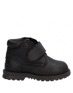 Полусапоги и высокие ботинки DOLCE & GABBANA. Цвет: темно-коричневый