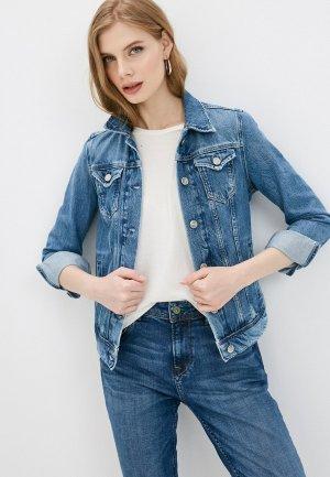 Куртка джинсовая Pepe Jeans THRIFT. Цвет: синий