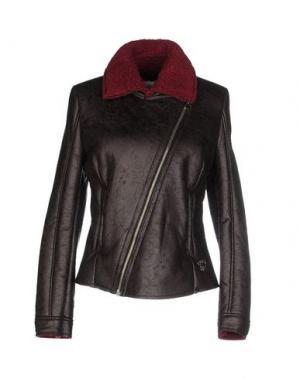 Куртка MAISON ESPIN. Цвет: темно-коричневый