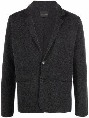 Однобортный пиджак Roberto Collina. Цвет: серый