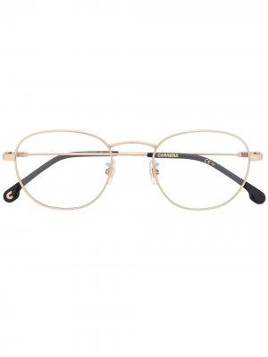 217/G round-frame glasses Carrera. Цвет: золотистый
