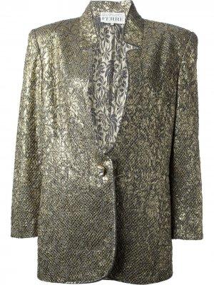 Жаккардовый костюм с юбкой Gianfranco Ferré Pre-Owned. Цвет: золотистый