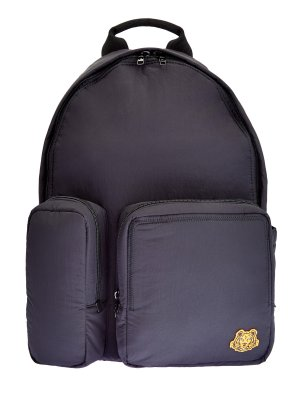 Рюкзак из нейлона с асимметричными карманами KENZO. Цвет: черный