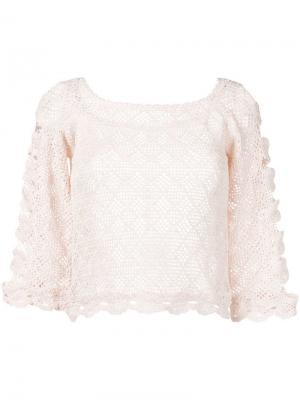 Полупрозрачная блузка Alberta Ferretti. Цвет: розовый