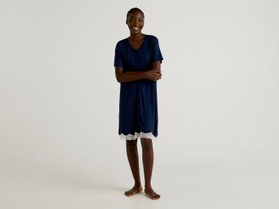 Ночная сорочка Benetton. Цвет: синий