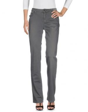 Джинсовые брюки CORLEONE. Цвет: серый