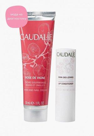 Набор для ухода за руками Caudalie идеальный дуэт «Rose de Vigne», крем рук и ногтей Rose Vigne 30 мл, Гигиеническая помада 4,5 г. Цвет: прозрачный