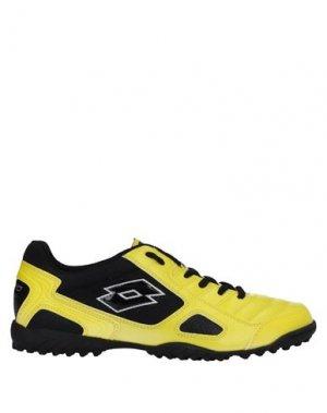 Низкие кеды и кроссовки LOTTO. Цвет: желтый