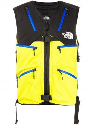 Жилет в стиле колор-блок с логотипом The North Face Black Series. Цвет: желтый
