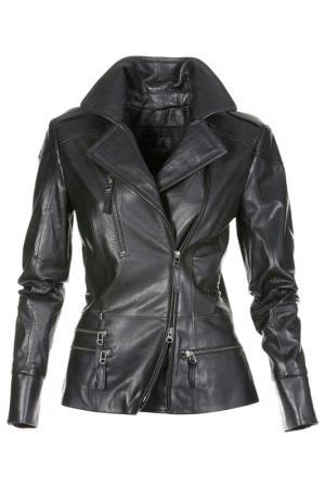 Кожаная куртка Madeleine. Цвет: schwarz