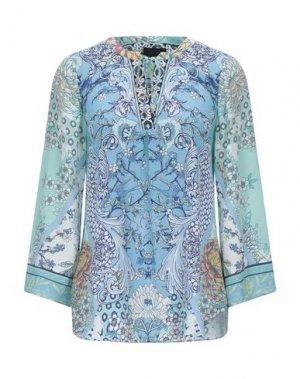 Блузка HALE BOB. Цвет: лазурный