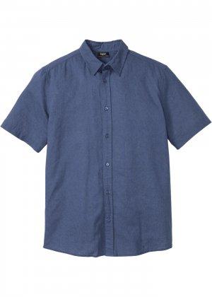 Рубашка bonprix. Цвет: синий