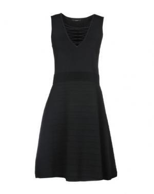 Платье до колена SET. Цвет: черный