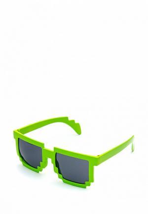 Очки солнцезащитные Maskbro. Цвет: зеленый