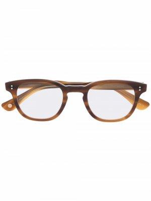 Очки Douglas в квадратной оправе Garrett Leight. Цвет: коричневый