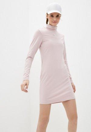 Платье Nike W NSW SWSH DRESS LS MOCK. Цвет: розовый