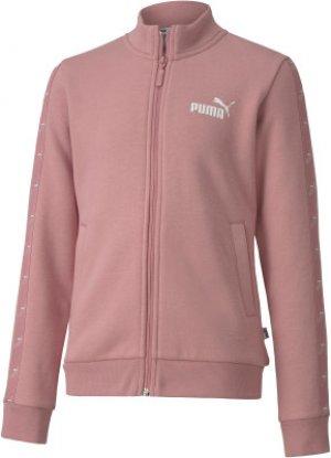 Толстовка для девочек Amplified, размер 152 Puma. Цвет: розовый
