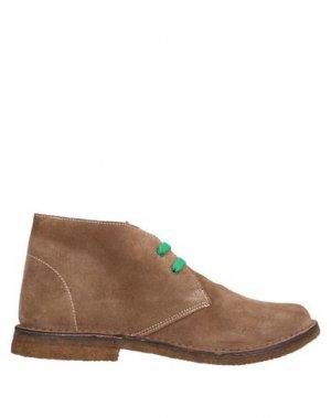 Полусапоги и высокие ботинки EUREKA. Цвет: светло-коричневый