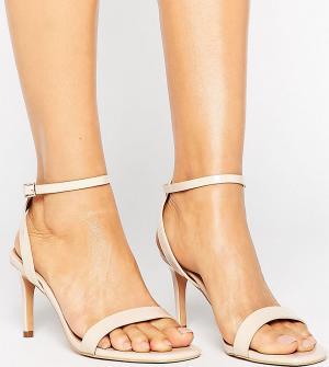 Сандалии на каблуке ASOS HIDEAWAY DESIGN. Цвет: бежевый