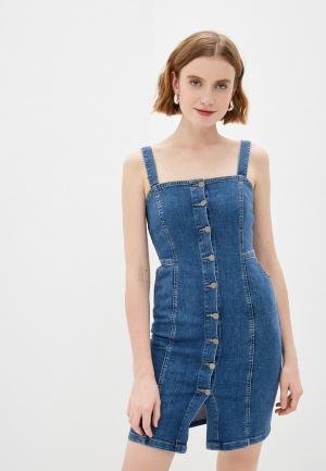 Платье джинсовое adL. Цвет: синий