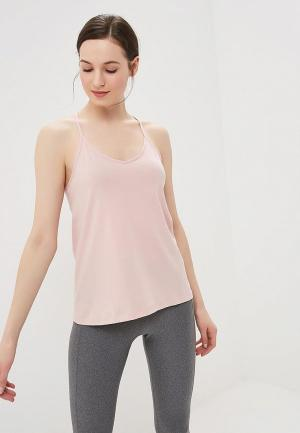 Майка спортивная Under Armour Solid Fashion Tank. Цвет: розовый