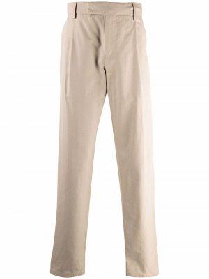 Прямые брюки с эластичным поясом Dunhill. Цвет: нейтральные цвета