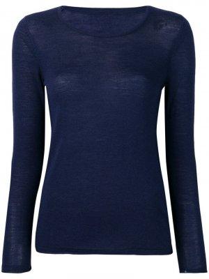 Пуловер кроя слим Sottomettimi. Цвет: синий